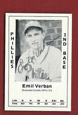 EMIL VERBAN Autograph SIGNED Auto 1979 DIAMOND GREATS #314 Cult Hero  with LOA