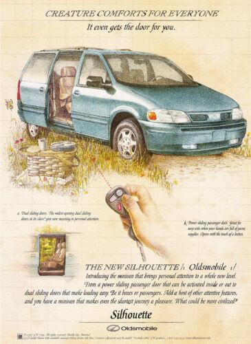 1997 Oldsmobile Silhouette Van Original Advertisement Car Print Ad J351