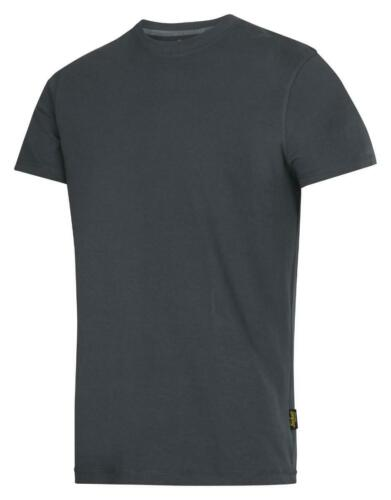 Olive Green Snickers 2502 Classic Crew Neck T-Shirt 100/% Combed Cotton
