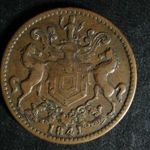 NF-1B3-Rutherford-Bros-1841-Newfoundland-Canada-token-NFLD-Breton-952