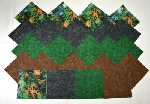 WILDERNESS CAMOUFLAGE CHARM PACK 5 Inch Quilt Squares