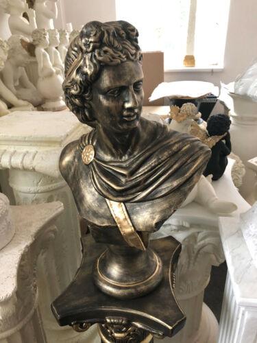 Schöne Büste Apolo XL Skulptur 51 cm  Shabby Antik Style   Deko 110