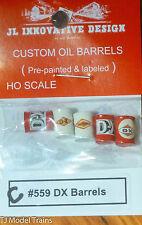 JL Innovative Design #559C Custom Oil BarrelS (5) -- DX (red, cream) HO SCALE
