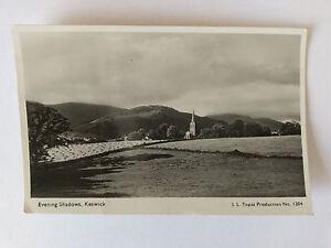 Keswick-Vintage-B-amp-W-Postcard-1949-Evening-Shadows