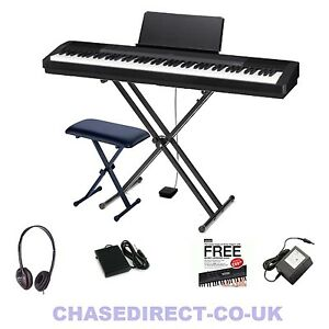 casio cdp 130 digital piano portable stage 88 keys hammer fully weighted bundle ebay. Black Bedroom Furniture Sets. Home Design Ideas