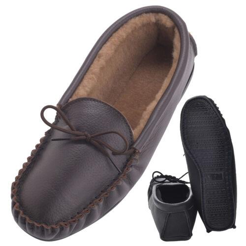manifattura cucitura di pelle britannica mocassino pelle di con in in Pantofola doppia di montone p7TUxqaYw