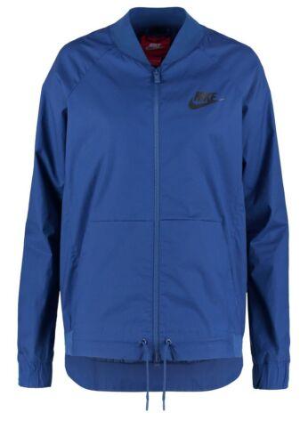 New Nike Women/'s Sport Bomber Jacket//running//pockets//lightweight sport//navy// £65