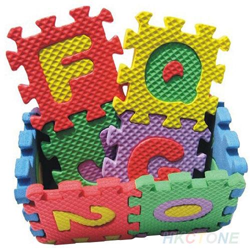 36x Baby Child Kids Striking Alphabet Number EVA Puzzle Foam Teaching Toy Mats