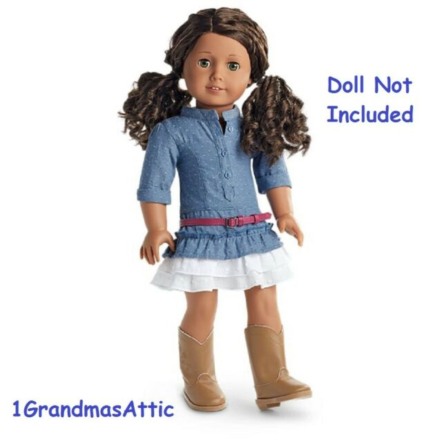 Belt NEW! Shoes NIB American Girl Travel in Style Dress Outfit with Headband