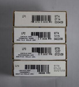 2009-P  Lincoln 4 rolls SET LP1 LP2 LP3 LP4  NEW