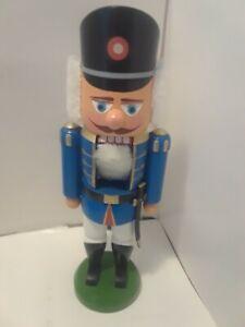 VINTAGE-ERZGEBIRGE-WOOD-SOLDIER-NUTCRACKER-Made-in-German-Democratic-Republic