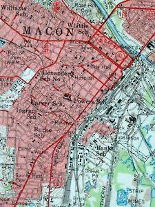 1956 Macon Georgia Gray Original 15 Minute Usgs Topographic Topo Map