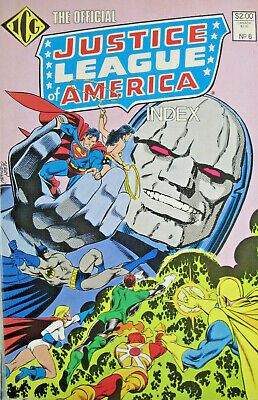 Official Justice League of America Index #5 1986 VF Stock Image