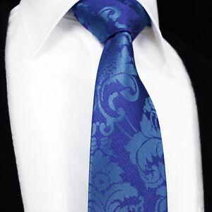 Hommes-Violet-Bleu-Cravate-Soie-Mariage-Cachemire-634
