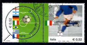 ITALIA-2002-CALCIO-CAMPIONI-DEL-MONDO-DITTICO-USATO