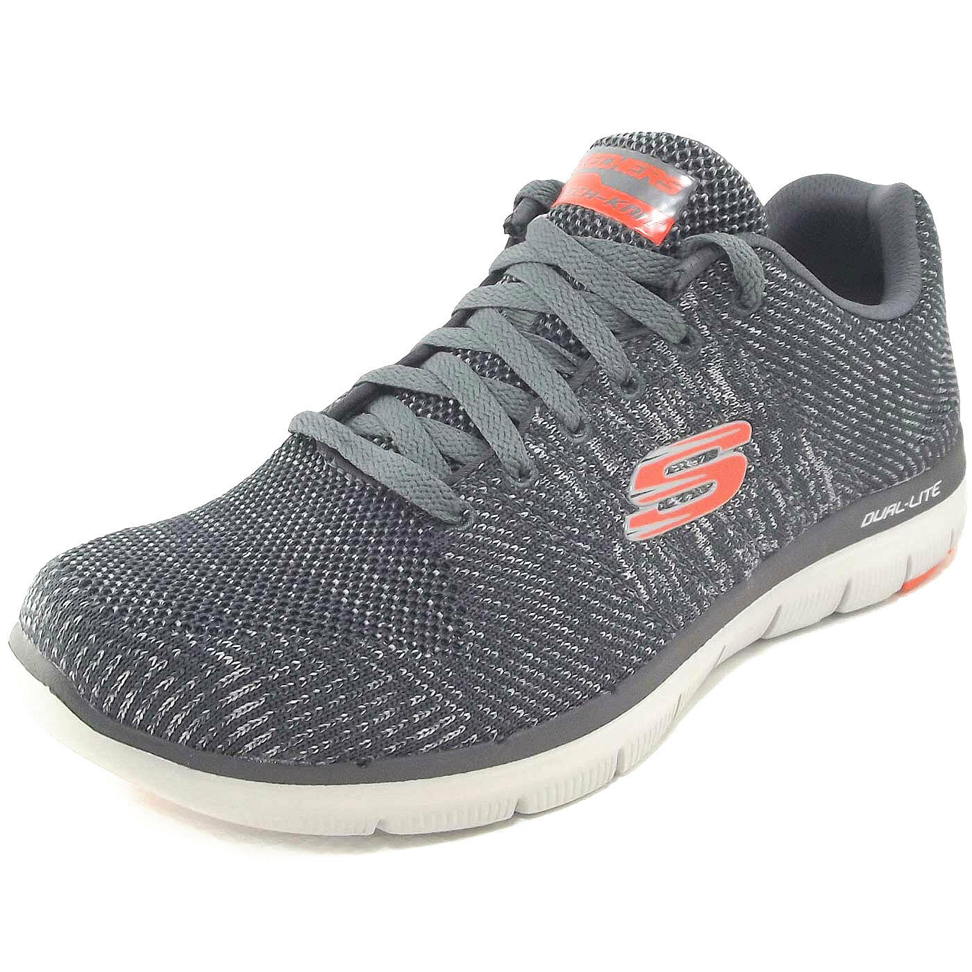 Skechers Flex Advantage 2.0 Missing Link Trainingszapatilla de deporte gris (charcoal naranja)