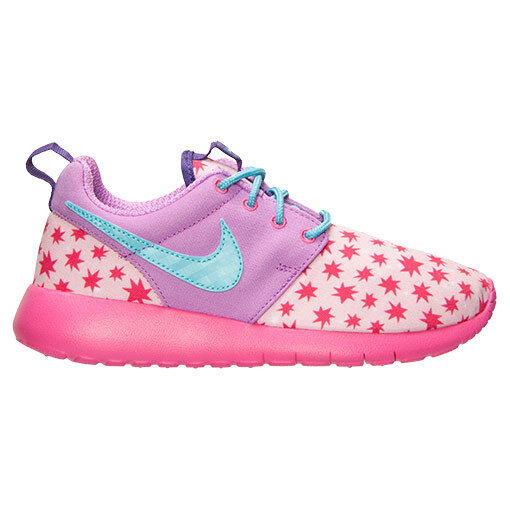 ee3bcd19b604 Nike Girls Roshe One Print Size 7y Prism Pink Purple Running Shoes 677784  604 for sale online