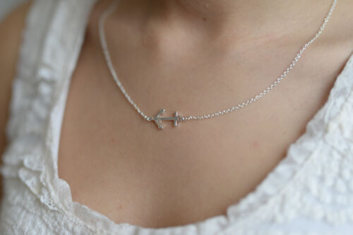 Maritime Halskette Anker Kette in Gold oder Silber