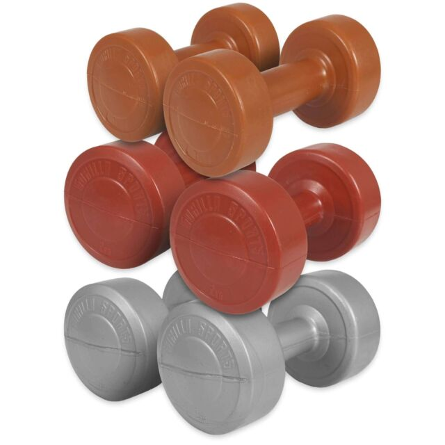 GORILLA SPORTS® Hantelset Aerobic Fitness Hanteln Kunststoff 12 kg Gewichte