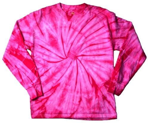 Spider Pink Tie Dye T-Shirt Youth S Youth L Long Sleeve 100/% Cotton Colortone