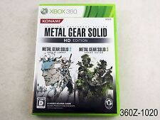 Metal Gear Solid HD Edition Xbox 360 Japanese Import Xbox360 Japan US Seller A