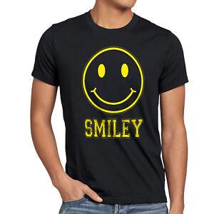 Smiley Face Herren T Shirt Emoji Kostum Fasching Gamer Sms Gesicht