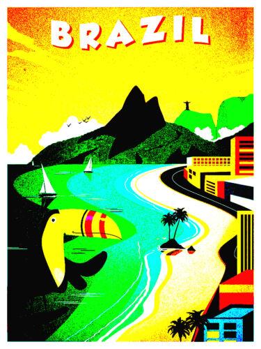 Retro Nostalgic Home Art Print Wall Decor poster BRAZIL Toucan Picture 1