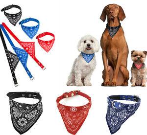 Dog-puppy-cat-pet-adjustable-collar-with-bandana-scarf-neckerchief-brand-new