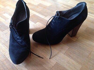 Tamaris Schuhe, Pumps, Absatzschuhe, Stiefeletten Gr. 39 schwarz Leather TOP !!!