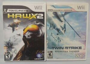 Twin-Strike-Thunder-Clancy-Hawx-2-Nintendo-Wii-Wii-U-Game-Lot-Complete