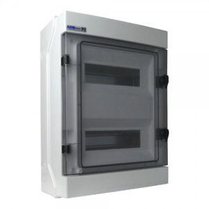 Feuchtraumverteiler-Verteilerkasten-Sicherungskasten-RH-24Mod-1000V-IP65-AP-VDE