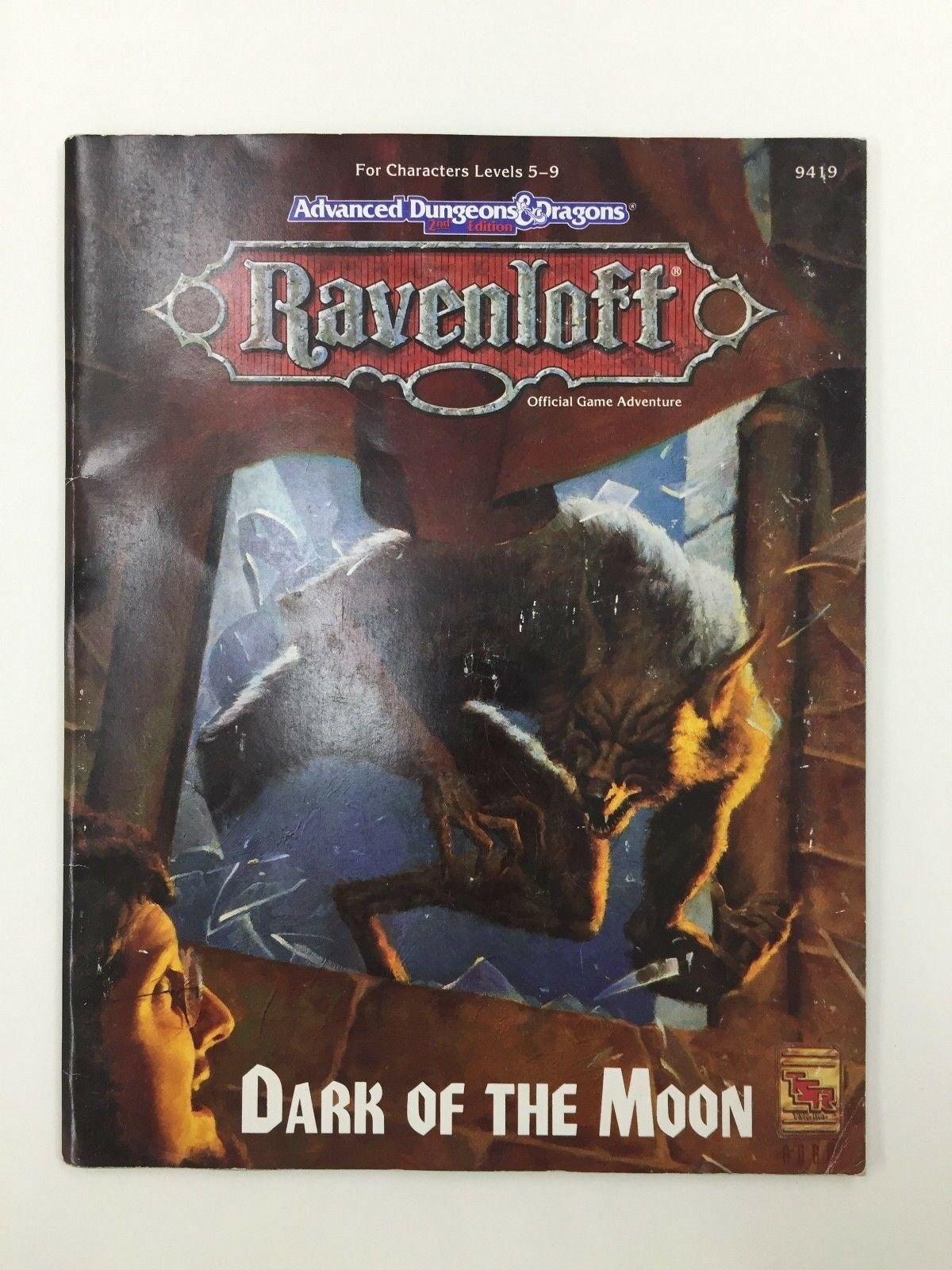 TSR Avanzado Calabozos y Dragones Ravenloft Oscuridad de la The Moon Rpg D&d
