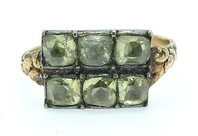A Wonderful Georgian Chrysoberyl Georgian Ring Circa 1770's