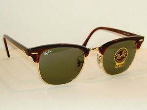 6590346990 New RAY BAN Sunglasses Tortoise CLUBMASTER RB 3016 W0366 G-15 Glass ...