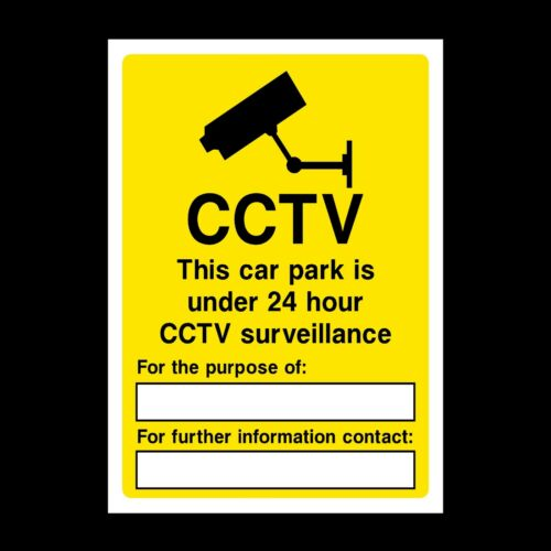 S3 CCTV This Car Park is being Watched Rigid Plastic Sign OR Sticker A5 A4