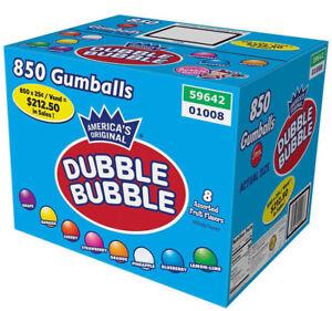 Dubble-Bubble-Assorted-Gumballs-Bulk-850-pieces-1-Inch-24mm-Vending-Double-Fruit