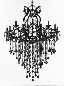 Jet black chandelier crystal lighting chandeliers 37x50 714983328500 image is loading jet black chandelier crystal lighting chandeliers 37x50 aloadofball Choice Image