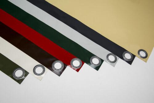 luz gris ral7035 con dobladillo ojetes wunschmaß 5-6m lona PVC-plane 610g/m²