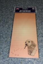 Brand New Buff Cocker Spaniel Magnetic Notepad For Dog Rescue Charity