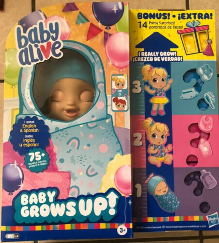 Baby Alive Baby Grows Up 14 Bonus Items Happy Hope or Merry Meadow Doll Fast New