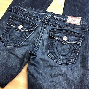 TRUE-RELIGON-Jeans-Women-s-28-Twisted-Inseam-Boot-Cut-Flare-BIG-T-JOEY-Low-Rise
