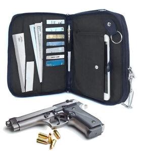 Genuine-Leather-Concealed-Carry-Pistol-Concealment-Gun-Notebook-Organizer-CCW