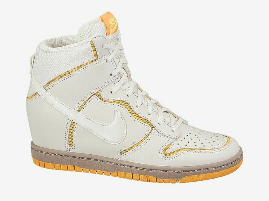 Nike Dunk Sky HI Cut Out Premium 644411-100 Women's US 8 Sail Mango NEW Price reduction New shoes for men and women, limited time discount