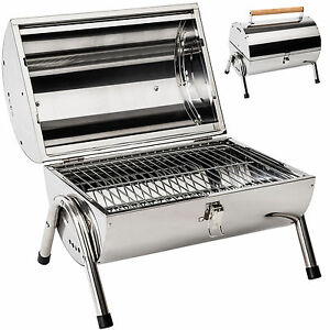 Barbecue-grill-en-inox-charbon-bois-barbecue-tonneau-table-camping-pique-nique