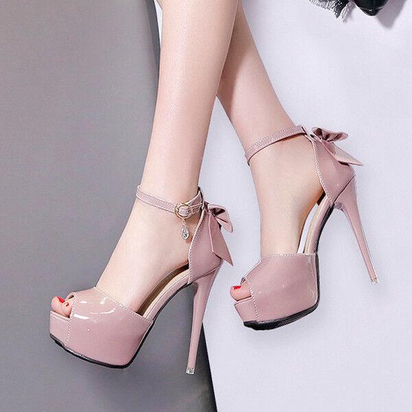 Décollte sandali sandali sandali zapatos decolte stiletto  12 cm plateau 4.5 rosadodo lucido 1630  mejor calidad