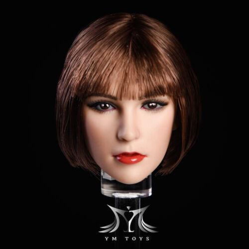 """1//6 Female Head Sculpt cheveux court pour 12/"""" PHICEN TBLeague Hot Toys figure ❶ USA ❶"""