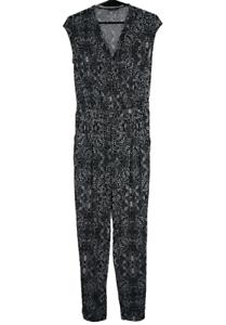 JACQUI-E-Black-amp-White-Jumpsuit-Waist-Tie-Pockets-Like-New-Size-10