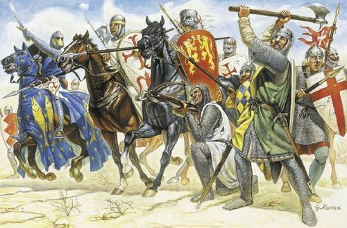 The Knights Crusade Kit 1:72 Italeri It6009 Modellino