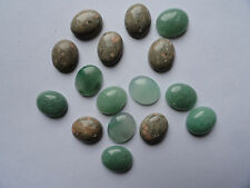 Cabochon Gemstones ASSORTED  EEEE 10x12mm Pkg 16 mixed adventurine and sea shell