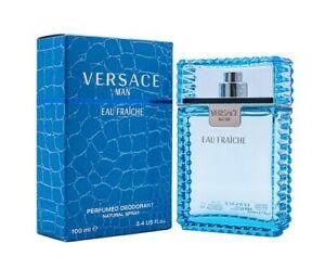 Versace Man Eau Fraiche by Versace 3.4 oz Perfumed Deodorant Spray for Men New